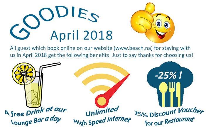 beach hotel swakopmund - specials